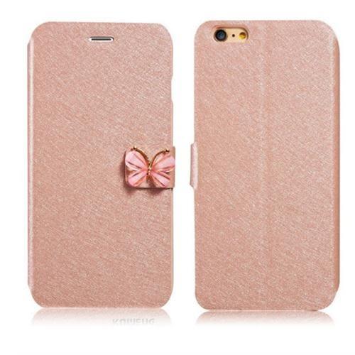 蘋果 iPhone 7/8 手機殼 蠶絲紋 翻蓋 水鑽 皮套 蘋果 6 Plus 保護套 6s 新款 防摔 外殼