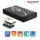 【鼎立資訊】Delock-42556 2.5吋 SATA SSD硬碟外接盒Type C連接埠 15mm 即插即用