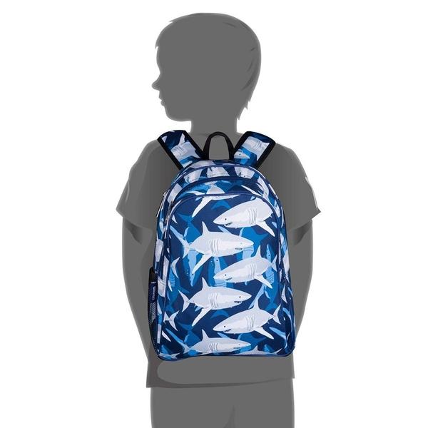 【LoveBBB】美國 Wildkin 兒童後背包/雙層式便利書包 67700 鯊魚家族