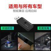 藍芽適配器 車載藍芽適配器汽車MP3播放USB連接FM發射免提通話4.2藍芽接收器 二度3C
