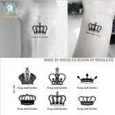 環保 防水 紋身貼 小清新 皇冠 英紋 圖案 紋身 貼紙 紋身貼紙