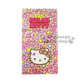 〔小禮堂〕Hello Kitty 兒童毛巾《M.粉豹紋滿版.大臉》100%棉.28*54(cm) 4716171-25534