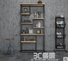 書架 工業風裝飾櫃北歐客廳辦公隔斷置物loft書架定做鐵藝實木落地屏風 3C優購HM