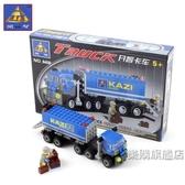 組裝積木兒童積木玩具拼裝卡車賽跑貨車兼容男女孩小顆粒組裝飛機模型