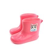 奇奇冒險日記 雨靴 雨鞋 防水 小女生鞋 粉紅色 小童 童鞋 CH8001 no749