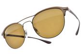 RayBan 偏光太陽眼鏡 RB3596 909283 (棕-棕鏡片) 造型飛行款 # 金橘眼鏡