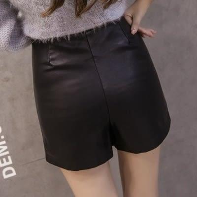 皮革短裙-時尚氣質獨特不規則女裙子2色73kj46[巴黎精品]