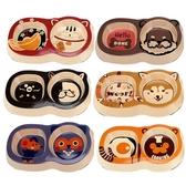 寵物狗盆貓咪碗雙碗小型食盆可愛【聚寶屋】