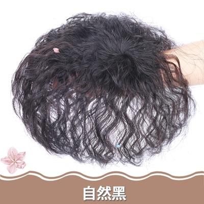 假髮片(真髮絲)-玉米鬚短捲髮頭頂補髮女假髮2色73uf4【時尚巴黎】