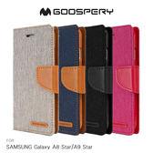 GOOSPERY SAMSUNG Galaxy A8 Star/A9 Star CANVAS 網布皮套 磁扣 可插卡 保護套 手機套