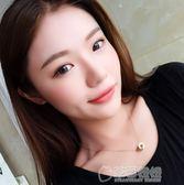 項錬女鈦鋼鎖骨錬羅馬數字雙環不掉色韓國簡約時尚學生配飾品吊墜   草莓妞妞
