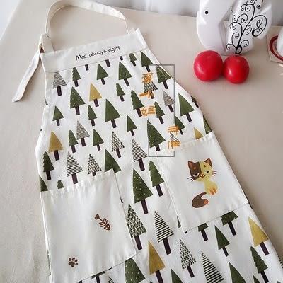 棉麻韓式 時尚圍腰 廚房防污 圍裙 限時八八折