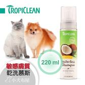 *KING WANG*【美國Tropiclean】泡沫乾洗精 7.4oz《巧倍麗 成份天然 70%有機 》溫和幼犬幼貓可用