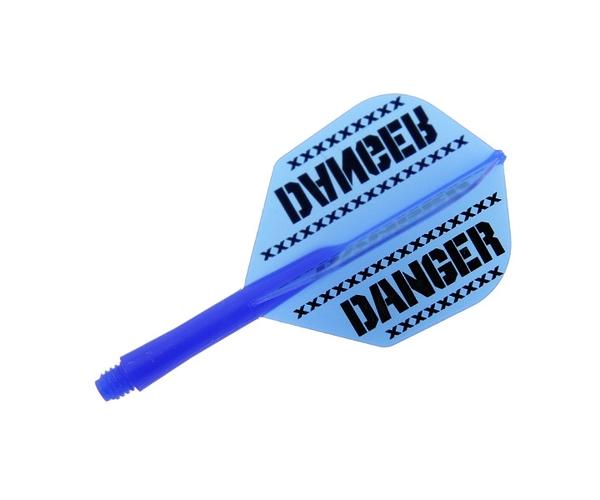 【Ptera Factory】Shaft一體型Flight Seamless Shape Short DANGER Blue 鏢翼 DARTS
