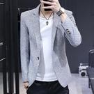 小西裝男一套韓版修身加厚外套休閒西服帥氣潮流上衣男裝搭配套裝 黛尼時尚精品