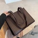 時尚編織大容量側背包托特包時尚百搭女包手提包【邻家小鎮】