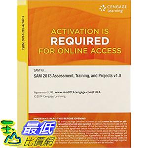 [106美國直購] 2017美國暢銷軟體 SAM 2013 Assessment, Training, Projects v1.0 Printed Access Card 1st Edition