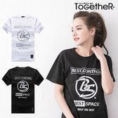 ToGetheR+【J4579】顯眼新潮款BS字母圓標印花短袖T恤(二色)