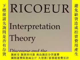 二手書博民逛書店Interpretation罕見Theory: Discours