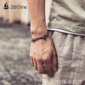 手錬/手鐲日韓簡約純色時尚鎖錬男女款腳錬兩用鈦鋼情侶 全館免運
