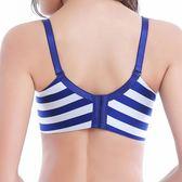 一片式無痕無鋼圈文胸厚薄小胸聚攏胸罩側收副乳條紋內衣女