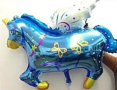 小飛馬鋁箔氣球-藍色(未充氣)~~求婚道具/婚禮 生日 耶誕節 尾牙佈置