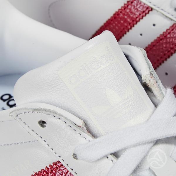 Adidas Superstar W 女款 白紅 經典 復古 休閒鞋 EE9151