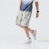 短褲-棉質立體大口袋寬鬆五分男休閒褲3色73xl3[巴黎精品]