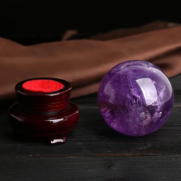 風水球 開光天然紫水晶球擺件招財鎮宅旺事業風水轉運水晶紫氣東來【快速出貨八折下殺】
