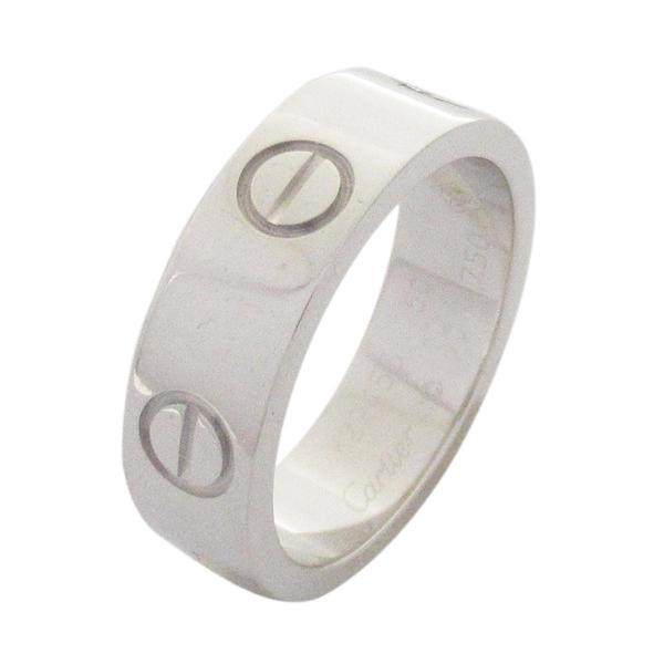 Cartier 卡地亞 LOVE系列18K白金戒指 Ring K18WG 50號【二手名牌 BRAND OFF】