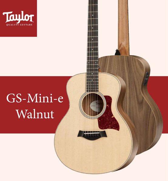 【非凡樂器】TaylorGS-Mini-e Walnut /美國知名品牌電木吉他/全新未拆箱/加贈原廠背帶/公司貨保固
