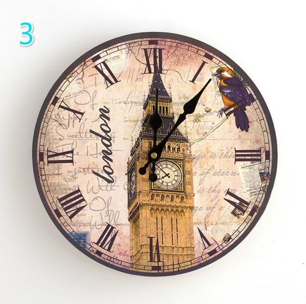 【SG317】壁鐘 歐式復古靜音壁鐘30cm 歐式創意掛鐘客廳鐘錶 靜音木質掛鐘錶 時尚