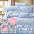 60天絲床罩組~ 頂級60支100%天絲標準雙人床罩七件式組/多種款式任選60S
