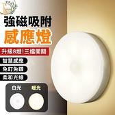 現貨!人體感應磁吸小夜燈 (三段開關/8燈款) USB充電 小夜燈 玄關燈 走廊燈 感應燈 櫥櫃燈 磁吸式