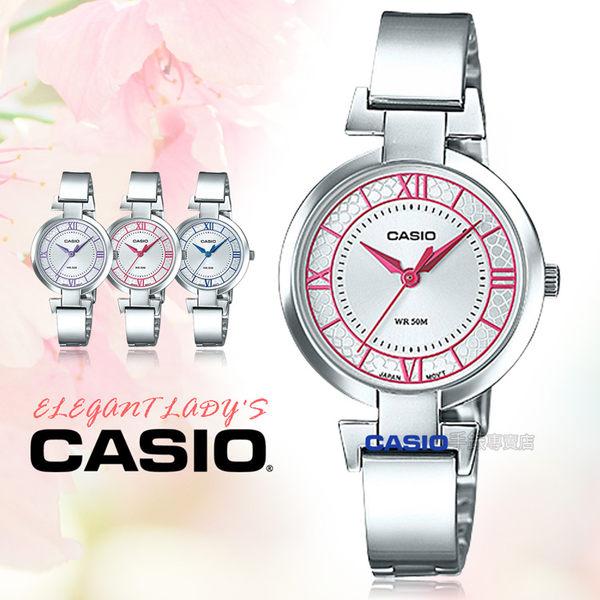 CASIO 卡西歐 手錶專賣店 LTP-E403D-4A 女錶 不鏽鋼錶帶  防水 礦物玻璃 一觸式3倍扣
