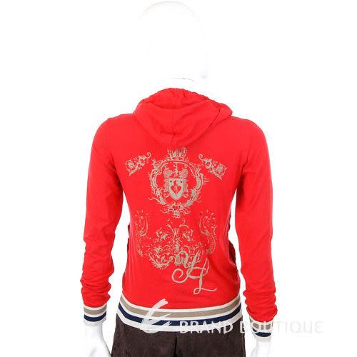 YES LONDON 紅色圖騰連帽拉鍊外套 0820071-54