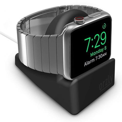 【美國代購】Orzly緊湊型用於Apple Watch 支架 - 相容的Nightstand模式  黑色