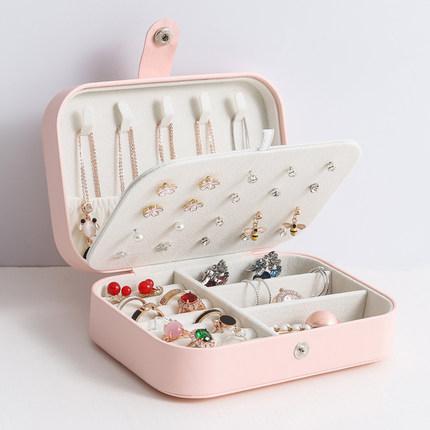 珠寶盒 耳釘收納盒耳環耳飾裝耳環的首飾盒小手飾盒耳墜戒指項鍊飾品盒子 4色