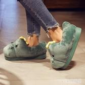 棉拖鞋女室內可愛包跟防水厚底冬防滑加絨卡通毛絨高 OO535【VIKI菈菈】