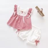 女小童1歲半女童夏裝2短褲2019新款女寶寶0嬰兒夏季公主套裝3衣服 滿天星