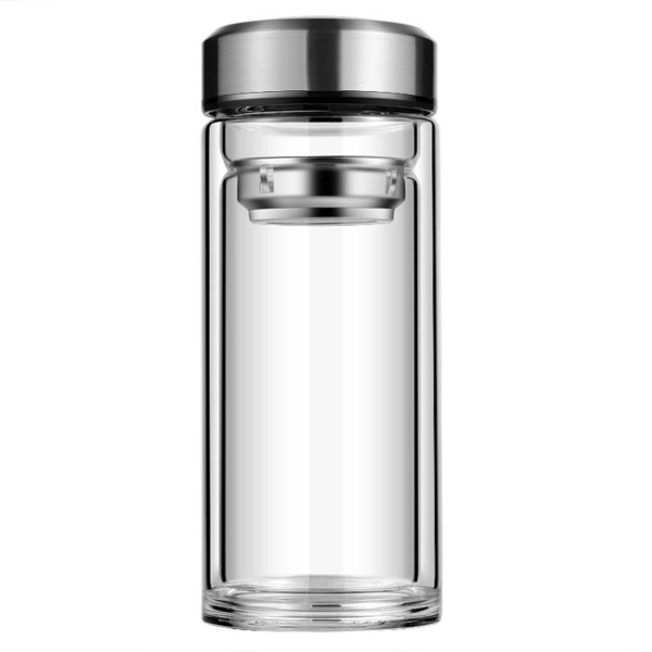 大容量玻璃杯雙層加厚過濾男士女學生隔熱喝飲水杯瓶壺泡茶杯子 【八折搶購】
