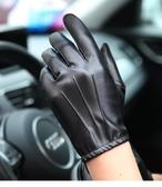 WarmenPU皮手套男士薄款開車駕駛騎行摩托車手套防滑全觸屏PM014