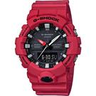 CASIO 卡西歐 G-SHOCK 獨立秒針雙顯手錶-紅 GA-800-4ADR /  GA-800-4A