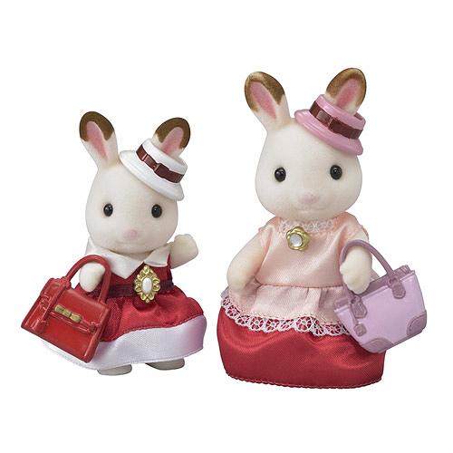 森林家族 人偶 TOWN可可兔媽媽姊姊人偶組