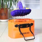 折疊水桶車用便攜式車載伸縮大容量大號汽車戶外旅游刷車洗車專用魔方數碼