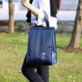 便當手提包大號保溫飯盒袋學生手拎袋小清新韓版野餐包帆布鋁箔 熊貓本