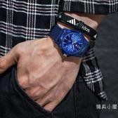 夜光韓版簡約休閒男生手錶男中學生青少年潮流時尚防水尼龍帶男表