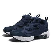 REEBOK 休閒鞋 INSTA PUMP FURY 深藍 經典 襪套 充氣 情侶 男女 (布魯克林) DV6986