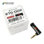 耀您館|韓國製EDUTIGE直角音源轉接器ETG-002(母TRS轉公TRS)L型音訊轉接頭mic麥克風3.5mm轉接頭