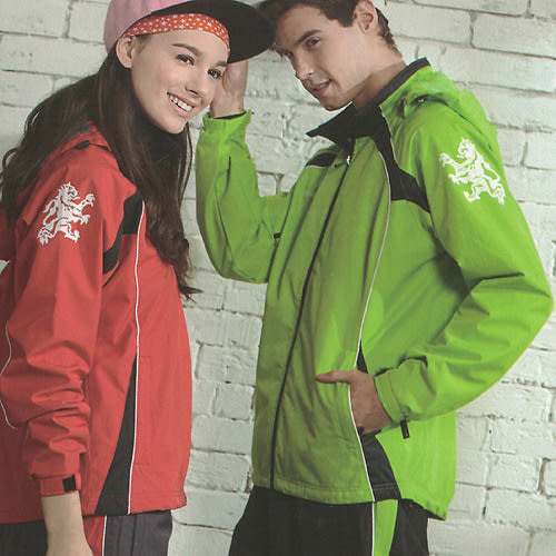 MILD STAR 男女運動休閒防水透氣刷毛裡外套-淺綠#JW605204